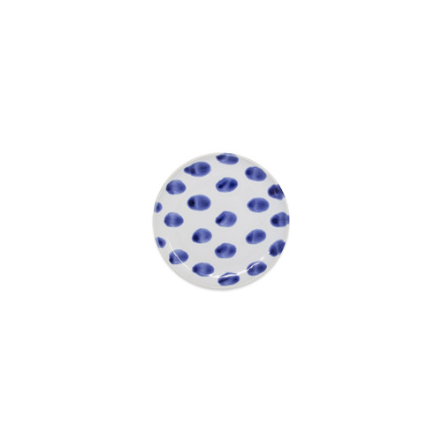 "Vietri Santorini Dot Canape Plate  VSAN-003019B 6.5""D  Liven up your everyday dinner parties with the playful designs of Vietri's Santorini from plumpuddingkitchen.com, inspired by a well-traveled lifestyle.   Assorted blue and white patterns make entertaining fun by recreating the beautiful mosaic tiles found in the Greek Isles.   Handmade of hard ceramic.  Dishwasher and microwave safe."