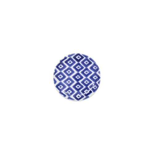 "Vietri Santorini Geo Canape Plate  VSAN-003019A 6.5""D  Liven up your everyday dinner parties with the playful designs of Vietri's Santorini from plumpuddingkitchen.com, inspired by a well-traveled lifestyle.   Assorted blue and white patterns make entertaining fun by recreating the beautiful mosaic tiles found in the Greek Isles.   Handmade of hard ceramic.  Dishwasher and microwave safe."