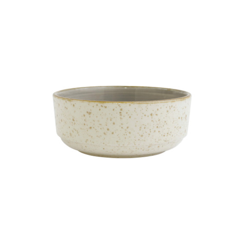 "Vietri VIVA Earth Eggshell Small Bowl  VETH-003006C 6""D, 2.75""H  Warm, neutral tones handpainted on angled silhouettes work in unison to create everyday essentials in four versatile patterns- bubble, bamboo, eggshell, and flower.  Handpainted on hard ceramic in Portugal. Dishwasher and microwave safe."