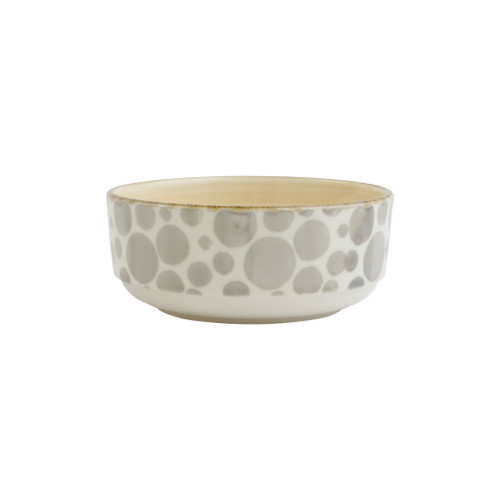 """Vietri VIVA Earth Bubble Small Bowl  VETH-003006A 6""""D, 2.75""""H  Warm, neutral tones handpainted on angled silhouettes work in unison to create everyday essentials in four versatile patterns- bubble, bamboo, eggshell, and flower.  Handpainted on hard ceramic in Portugal. Dishwasher and microwave safe."""