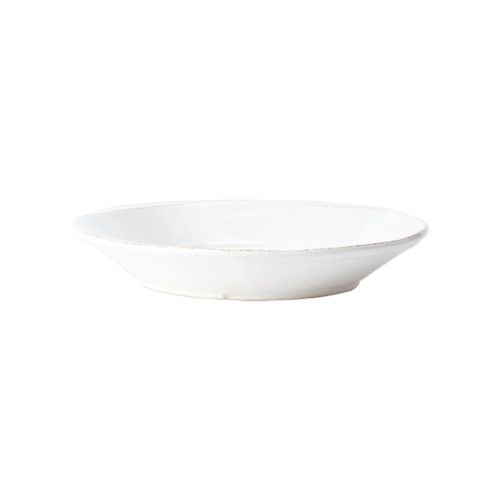 "Vietri Melamine Lastra Large Shallow Serving Bowl  MLAS-W23026 12""D, 3""H  Lastra's unique silhouettes and rustic elements take a new form in Melamine Lastra from plumpuddingkitchen.com. Lightweight yet sturdy with a glossy finish, this collection is ideal for outdoor use or meals with children.   BPA free and made in the Philippines.  Dishwasher safe - not microwave safe."