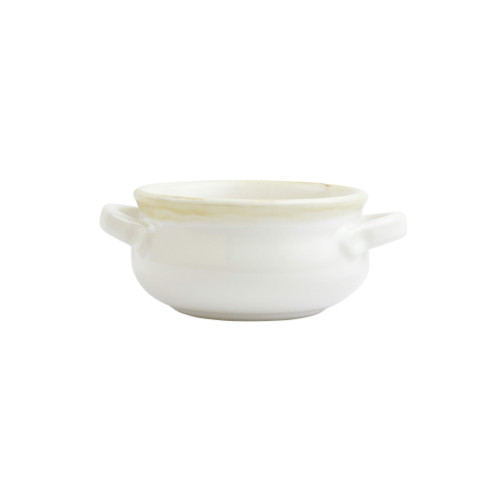 "Vietri White Small Handled Italian Baker  ITB-W2955  ""Featuring scalloped edges, the Italian Bakers Blue Small Handled Round Baker from plumpuddingkitchen.com is handcrafted of Italian stoneware in Umbria. This unique size and fun shape is perfect for holiday gatherings and family get-togethers. 