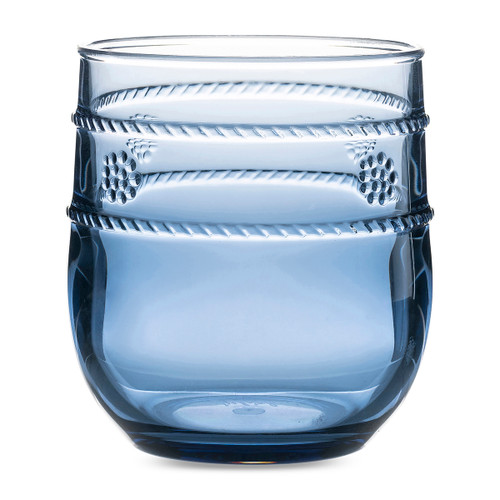 "Juliska Isabella Acrylic Blue Tumbler  MA302/46 .53""W, 4H, 8oz Chic yet casual, these dreamy blue tumblers are the perfect, long-lasting barware pieces for any occasion, reminiscent of days spent pool or beach side with cool beverage in hand."
