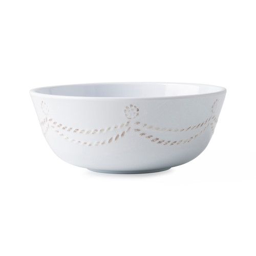 "Juliska Berry & Thread Melamine Cereal/Ice Cream Bowl MA09/100 6""W, 2.5""H, 16oz Whether you decide crunchy granola or a la mode, this Berry & Thread cereal/ice cream bowl detailed with subtle thread and berries motif is super family-friendly and accessible for a sleepover sundae bar, morning breakfast or yogurt for snack time."