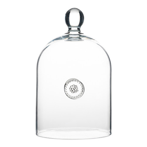 """Juliska Berry & Thread Glass Cloche B723/C 4.75""""W, 8""""H From our Berry & Thread Collection, this Bohemian glass blown cloche can comfortably house your most exquisite cake, tartlets or create a stunning statement piece, centered on your kitchen island or table for a flawless sparkle."""