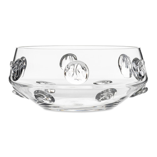 "Juliska Florence Clear 10"" Serving Bowl B304/C 9.25""W, 4""H, 1.5Qt A stately piece from Juliska's Florence Collection, this 10"" bowl is an essential vessel for serving your guests or grandly displayed due to its shapely elegance."