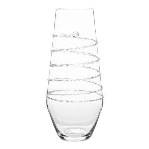 "Juliska Amalia 16"" Clear Vase B448/C 7""W, 16""H, 5 Qt A sleek addition to our Amalia Collection, the cylindrical, eye-catching shape this spiral vase is the perfect height for varied bunches and blooms, such as roses, delphiniums or peonies."