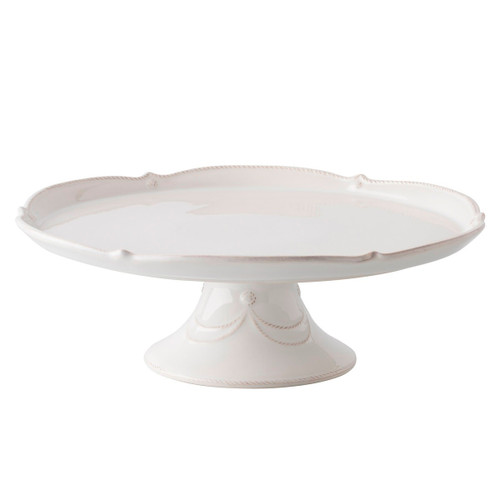 "Juliska Berry & Thread Whitewash 14"" Cake Stand JA18X/W 14""W, 4.75""H From Juliska's Berry & Thread Collection - Put your homemade baked goods on a pedestal where they belong!  Designed to be paired with one of our glass cake domes from plumpuddingkitchen.com to preserve your sweet treats."