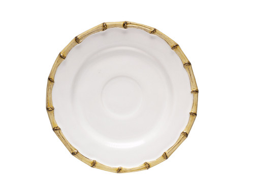 """Juliska Classic Bamboo Natural Saucer KM05/34 7.5""""D From Juliska's Classic Bamboo Collection- The trim and tailored companion to our tea and coffee cup - bring it along to collect drips and nestle your almond biscotti."""
