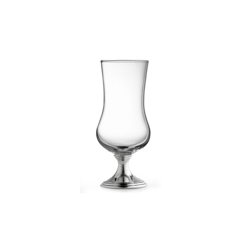 """Arte Italica Verona Cocktail/Beer Glass P2536  Graceful forms of glittering glass are combined with handcrafted pewter stems. This timeless glass adds an elegant feel to any table. Italian pewter and glass, Hand made in Italy. Hand wash only, do not soak, wash with luke warm water, and dry immediately.  3"""" D x 8"""" H, 15 oz"""