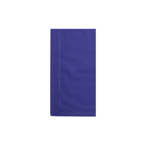 """Vietri Cotone Linens Cobalt Napkins with Double Stitching Set/4  COT-C007001 21"""" Sq  Clean, soft, and made of 100% woven cotton, Vietri's Cotone Linens from plumpuddingkitchen.com are a tabletop essential.  Solid colors easily transition between tablescapes while adding subtle simplicity.  Made in India.  Machine wash up to 100°F. Lay flat to dry, warm iron. Dry clean, if necessary."""