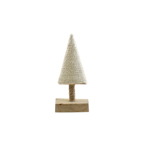 """Vietri Alberini White Extra-Small Tree  ABE-W009004 4""""W, 9""""H (al behr ee nee): little trees  Alberini from plumpuddingkitchen.com, meaning little trees in Italian, captures the simplicity of the forest with mix and match designs in both green and natural color schemes. Handcrafted of 100% biodegradable jute in India. For decorative use only."""