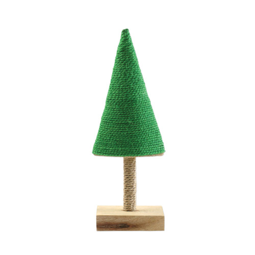 """Vietri Alberini Lime Green Small Tree  ABE-LG009003 4.5""""W, 12""""H  (al behr ee nee): little trees  Alberini from plumpuddingkitchen.com, meaning little trees in Italian, captures the simplicity of the forest with mix and match designs in both green and natural color schemes. Handcrafted of 100% biodegradable jute in India. For decorative use only."""