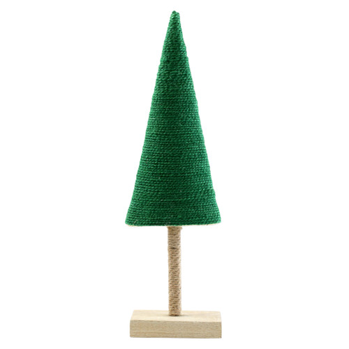 """Vietri Alberini Dark Green Large Tree  ABE-G009001 5.25""""W, 18""""H  (al behr ee nee): little trees  Alberini from plumpuddingkitchen.com, meaning little trees in Italian, captures the simplicity of the forest with mix and match designs in both green and natural color schemes. Handcrafted of 100% biodegradable jute in India. For decorative use only."""