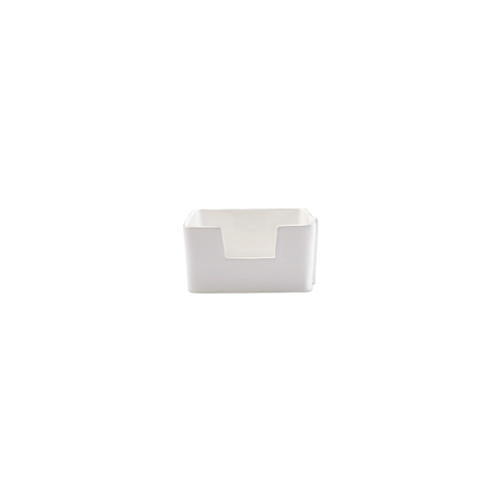 "Vietri Lastra White Cocktail Napkin Holder  LAS-2679W 6"" SQ, 3.25""H  ""Rustic and chic, the Lastra White  from plumpuddingkitchen.com adds a clean, elegant, and sophisticated look to your holiday kitchen. This stoneware design is inspired by the molds used to form cheeses throughout Italy. 