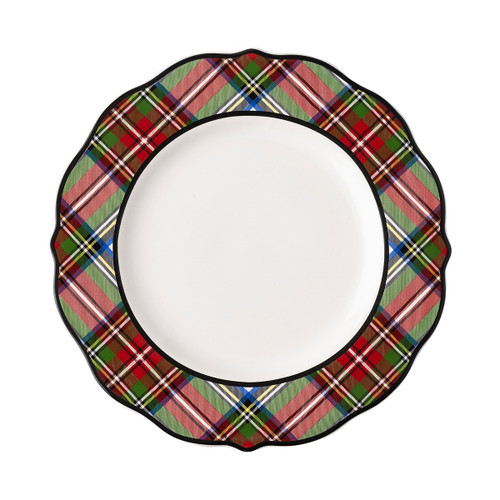 "Juliska Stewart Tartan Dinner Plate  TN01/88 11""W  Juliska's new dashing Stewart Tartan collection from plumpuddingkitchen.com is crafted by skilled artisans in Portugal, reflecting quality and timelessness. Featuring multiple colors, our tartan allows you to mix and match with other ceramics and glassware. Have fun playing with layers, patterns and colors when designing your tablescape with colorful elegance."