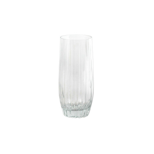 "Vietri Natalia High Ball Glass NLE-8813 5.5""H, 14oz  Reminiscent of cut crystal, Natalia from plumpuddingkitchen.com is poised for elegance with etched Italian glass that can be dressed up or down for any dining occasion.  Made in Naples. Dishwasher safe."