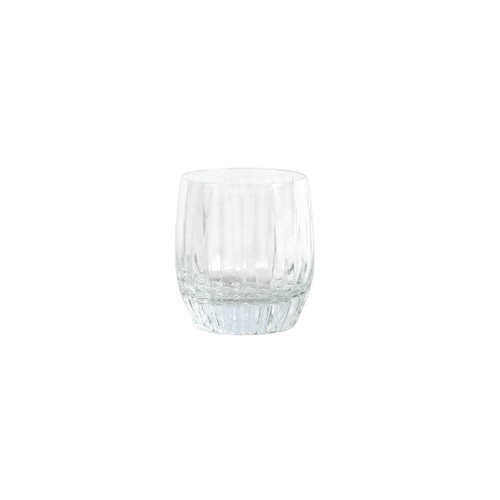 "Vietri Natalia Double Old Fashioned Glass NLE-8812 4""H, 10oz  Reminiscent of cut crystal, Natalia from plumpuddingkitchen.com is poised for elegance with etched Italian glass that can be dressed up or down for any dining occasion.  Made in Naples. Dishwasher safe."