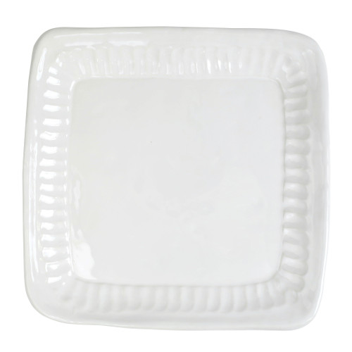"""Vietri Pietri Serena Square Platter  PIE-2628 13"""" Sq  Characterized by handpressed edges, Pietra Serena pays tribute to the architectural details of Florence, Italy during the Renaissance.  Pietra, meaning stone in Italian, is the gray marble sandstone that is the foundation of this remarkable city.  Handcrafted of Italian stoneware in Tuscany. Dishwasher, microwave, freezer, and oven safe."""