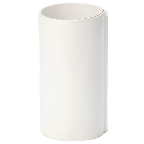"Rustic and chic, the Vietri Lastra White Large Vase adds a clean, elegant, and sophisticated feel to your home. Lastra's design is inspired by the molds used to form Italian cheeses. 4.75""D, 8.5""H LAS-2681W"