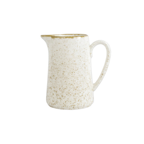 "Vietri Viva Earth Eggshell Pitcher  VETH-003015 7.75""H, 48oz  The Earth Eggshell Pitcher combines mid-century neutral tones with a simple sillouette in a playful handpainted pattern."
