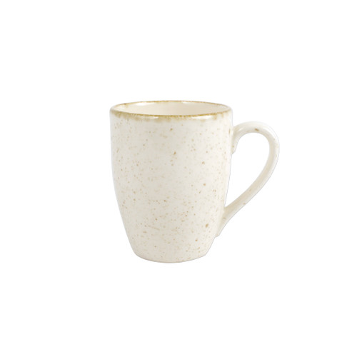 "Vietri Viva Earth Eggshell Mug  VETH-003010C 4.4""H, 14oz  The Viva Earth Mugs combine mid-century neutral tones with simple silhouettes in four versatile handpainted patterns."