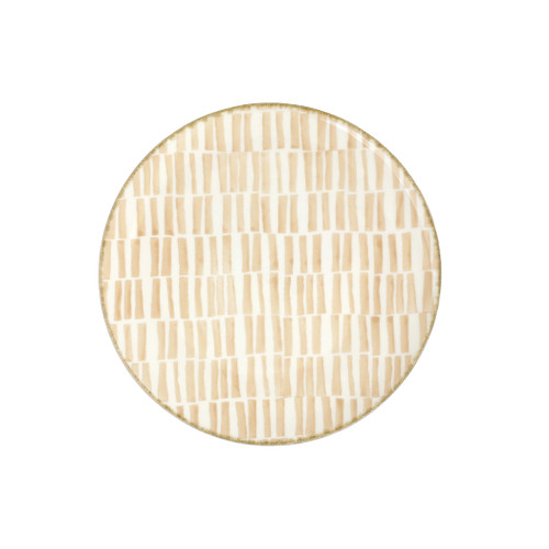 "Vietri Viva Earth Bamboo Salad Plate  VETH-003001B 9"" Diameter  The Earth Assorted Salad Plates combine mid-century neutral tones with simple silhouettes in four versatile handpainted patterns."