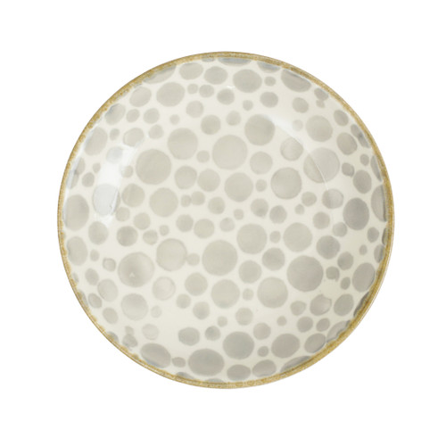 "Vietri Viva Earth Bubble Salad Plate  VETH-003001A 9"" Diameter  The Earth Assorted Salad Plates combine mid-century neutral tones with simple silhouettes in four versatile handpainted patterns."