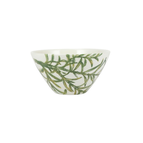 """Vietri Fauna Flora Tasso Cereal Bowl  FAU-9705F-D 6.5""""D, 3.5""""H  The work of maestro artisan, Gianluca Fabbro, is often recognized by a bold array of colors coupled with an innate attention to detail through his handpainted sponging technique. Fauna from plumpuddingkitchen.com combines the outline of the classic hunting bird paired with nature's greenery to depict what is commonly found during the hunt (la caccia) in Umbria, the Italian land known for capturing wild pheasants. Dishwasher and microwave safe."""
