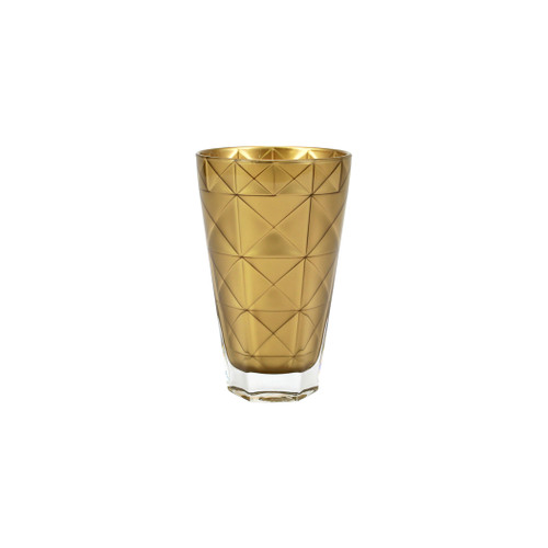 """Viva Vietri Prism Gold Tall Tumbler  VPRM-8838GO 5.75""""H, 14oz  Mix and match the Prism Glass from plumpuddingkitchen.com for bridal shower brunches, surprise engagements, or wine nights with your favorite girls."""