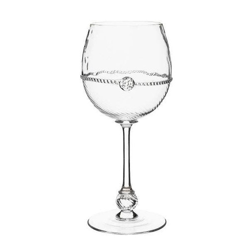 """Graham White Wine Glass  B283/C 3.75'w, 8.25""""H, 16oz  Crowned with a simple thread and a single berry, this goblet is as understated as it is glamorous. With a generous bowl shape to hold your favorite white wine, this glass will help set the tone for a romantic meal. Buy today from plumpuddingkitchen.com.  Bohemian Glass is Mouth-Blown in the Czech Republic"""