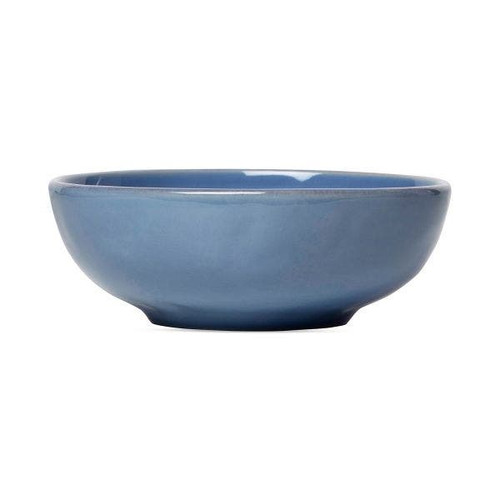 """Juliska Puro Chambray Coupe Bowl  KS08X/47 7.5""""D, 2.5""""H, 24oz  There's something sumptuous about this low and wide Chambray hued coupe bowl from plumpuddingkitchen.com that beckons slow roasted or freshly baked abundance, like the season's best vegetables or a hearty stew."""