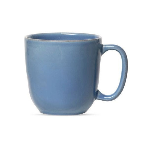 """Juliska Puro Chambray Cofftea Cup/Mug  KS46/47 5.75""""L, 3.75""""W, 4""""H 14oz  The interplay of modern yet timeless and simple yet beautiful - works perfectly with this eminently useful cup from plumpuddingkitchen.com that is ideal for both coffee and tea. Never have to choose sides again and enjoy your morning beverage in this sublime Chambray hued colorway."""