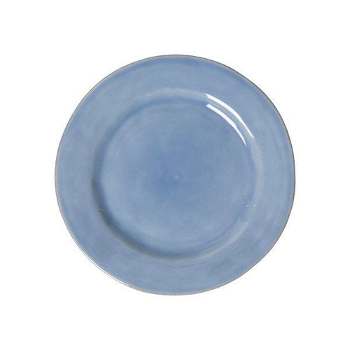 """Juliska Puro Chambray Side/Cocktail Plate  KS03/47 7""""D  Dish up a side of understated beauty with this side/cocktail plate from plumpuddingkitchen.com that lives up to its name - Puro - and is the perfect neutral blue hue to serve up everything from delicate confections at teatime to savory tapas at cocktail hour."""