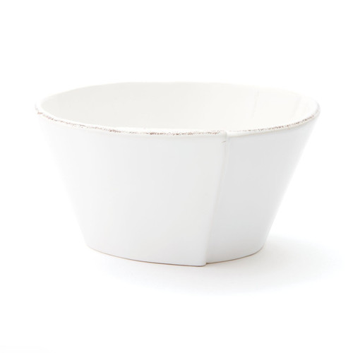 "Make storage simple and easy with the Lastra White Stacking Cereal Bowl. Rustic and sophisticated, this quintessentially Italian collection adds warmth and charm to your tablescape or morning breakfast routine. 6""D, 3""H LAS-2602W"