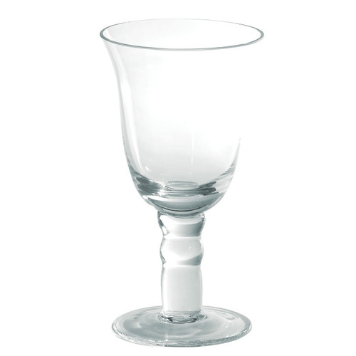 "Vietri Puccinelli Classic Wine Glass   For the most casual or elegant occasions, our Puccinelli Classic Clear Wine Glass from plumpuddingkitchen.com delivers durability with Italian style.   6.75""h, 8 oz PGL-5220"