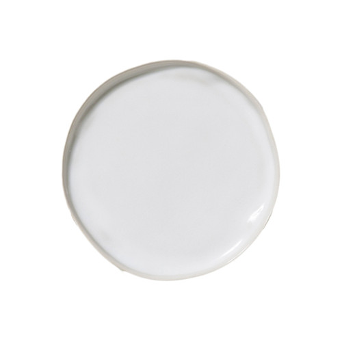 """Make a simple statement on your table with the authentic, handformed shape and classic white hue of the Forma Cloud Canape Plate. Made from our strongest stoneware, this petite plate is to be admired and enjoyed daily. 6.25""""D FOM-1119CL"""