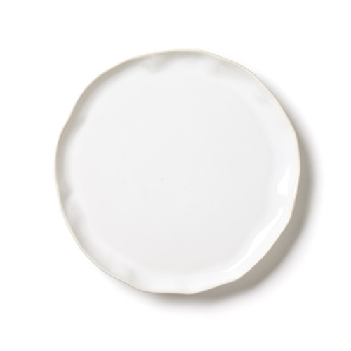 "The Forma Cloud Dinner Plate is made from VIETRI's strongest stoneware. With an authentic, handformed shape, the plate makes a simple statement on your table, and it is beautiful and crisp on its own or layered with other Forma shades or dinnerware collections. 10.5""D FOM-1100CL"