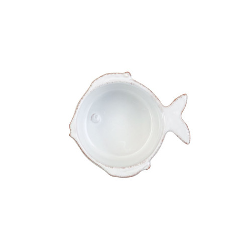 """The Lastra Fish Condiment Bowls feature the sophisticated lines of Lastra and the charming details of a little fish. 3""""D, 2""""H FSF-2680"""
