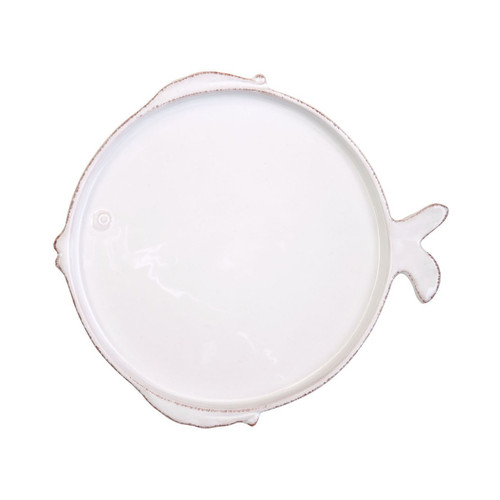 "The Lastra Fish Salad Plate features clean, simple lines, and the charming details of a little fish. 7.75""D FSF-2601"