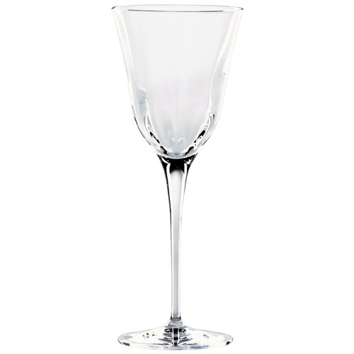 "Elegant lines and a substantial weight give the sense of timeless crystal in the Optical Clear Water Glass. 9.5""H, 11 oz OPT-8810CL"