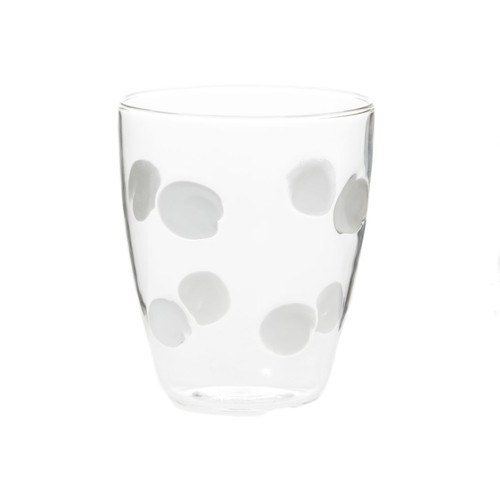 """Perfect as your everyday glass, the Drop Short Tumbler features a creative, playful design. Mouthblown in Veneto, the lightweight and versatile nature of this unique collection make it ideal for your favorite spirits. 4""""H, 10 oz DRP-5437"""
