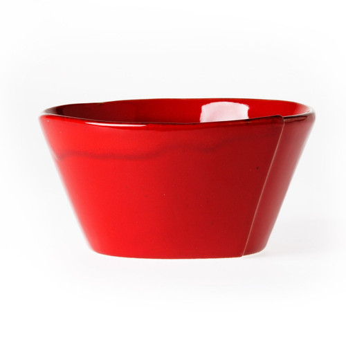 """Make storage simple and easy with the Lastra Red Stacking Cereal Bowl. Rustic and sophisticated, this quintessentially Italian collection adds warmth and charm to your tablescape or morning breakfast routine. It's the perfect size for a serving of homemade chili or a warm bowl of oatmeal. Handmade of Italian stoneware in Tuscany. 6""""D, 3""""H LAS-2602R"""