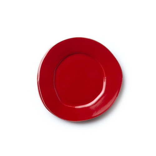 "Long lauded for creating one of the best shades of red in tabletop, we are thrilled to announce our newest red. Lastra's iconic cheese mold shape meets the rich hue, and the result is extraordinary on this Lastra Red Salad Plate. 8.75""D LAS-2601R"