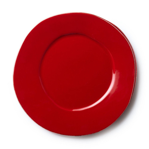 "Long lauded for creating one of the best shades of red in tabletop, we are thrilled to announce our newest red. Lastra's iconic cheese mold shape meets the rich hue, and the result is extraordinary on this Lastra Red Dinner Plate. 12""D LAS-2600R"