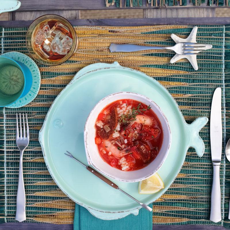 Vietri Lastra Fish Melamine