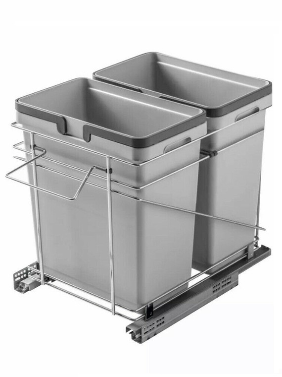 15 Inches Garbage Bins (2 x 32 Qt Bins)