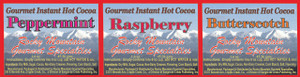 Gourmet Chocolate Cocoa's- Single Serving- Choose from 20+ Flavors