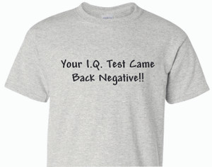 Your I.Q. Test... - 100% Ultra Cotton T-shirts, FREE SHIPPING