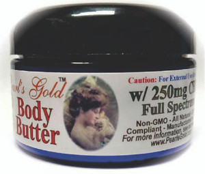 Pearl's Gold - CBD  - Body Butter - 250mg
